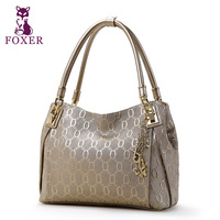 FOXER women handbag genuine leather bag new 2014 fashion evening handbags women designer brands wristlets totes shoulder bags