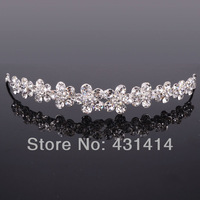 Newest Design Crystal Rhinestone Wintersweet Bridal Hair Accessories,Rhodium Plated Wedding Party Tiaras Crown Christmas Gifts