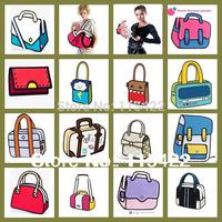 2014 new designed women 3d cartoon handbag gismo messenger bag high quality 2d 3d bag free shipping
