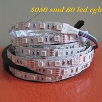 Hotsale 5M RGB led Strip Light 5050 60 led/m Non waterproof dc 12V 5050 smd 300leds rgb strip Christmas Decoration Light Strip