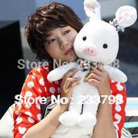 55cm super cute soft plush white pig bunny doll toy, stuffed lover rabbit, valentine&birthday gift for girls & lovers, 1pc