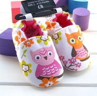 Free shipping !Owl Beautiful Children's Shoe Colorful Owl Baby Shoes Color Soft Sole Baby Shoe Lovely Baby Shoes