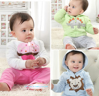 New arrival spring-autumn baby girl/boy coat with a hood,bebe lovely long sleeve hoodies 2014 new style cute