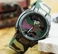 DHL/ Fedex Shipping 100pcs/lot wholesale New Army Green Military Rubber band Quartz Sport Mens Boys Wrist Watches 63983