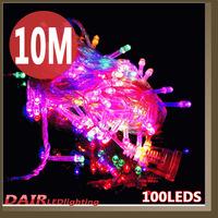 Newest Free Shipping High Quality Christmas Led lights CE & ROHS 8 Model Control AC110~220V 10m/pcs 100pcs led string light