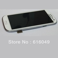For Samsung Galaxy S3 i9300 LCD Display + Digitizer Touch Screen Glass+Frame Assembly+free tool,white color Free shipping