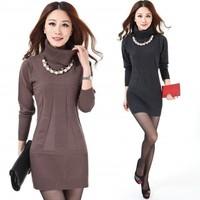 New 2014 Spring Women Sweater Turtleneck  Pullover Cardigan Sweaters Women Plus Size  Dresses Pullovers Women Oversized XXXXL