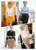 Free shipping luxury high fashion designer women 2013 formal chiffon blouse/shirt summer QR-2091