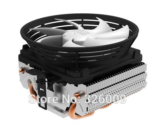 Retail box, 10cm fan, 2 heatpipe, fin down-blown, Intel LGA775/115x, AMD AM2/AM3/FM1/FM2, CPU FAN, CPU cooler, PcCooler Q102(China (Mainland))