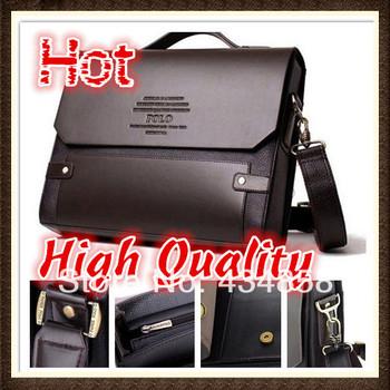 Polo men's bag genuine leather bag male shoulder Briefcase commercial men messenger bag casual handbags designer handbags 2014