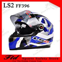 Motorcycle helmet LS2 ff396  motorcycle racing full pace helmet dual lens the glass strip carbon fiber helmet