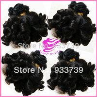Free shipping 4pcs lot Brazilian curly virgin hair, virgin human hair extension,100% aunty funmi hair weaves