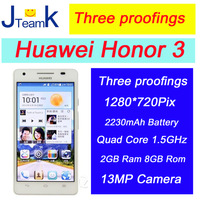 Huawei Honor 3 in stock 4.7 inch HD screen 13M Camera quad core 1.5GHz 2GB Ram three proofings Original new