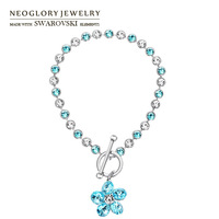 Neoglory MADE WITH SWAROVSKI ELEMENTS Rhinestone Flower Bangles & Bracelets For Girls Jewelry 2013 New Arrival Fashion Jewelry