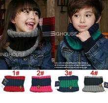 los niños cálido abrigo cuello collares conjuntos macho y hembra de bebé de lana bufanda poco más terciopelo insignia wj3002 envío gratis(China (Mainland))