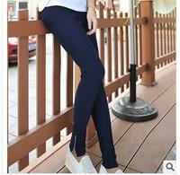 Hot Selling Autumn Fashion Pants Joker Personality Slim Skinny Leggings with zipper decoration elastic pencil pants 10 colors