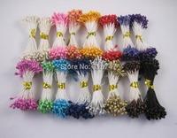 Free shipping wholesale mixed colors 3mm pearl flower stamen floral stamen DIY Decorative Flowers  (2400pcs/lot) 002001(1)