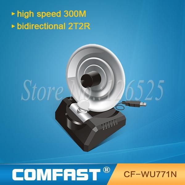 Adaptateur wireless lan usb 300 2mbps 802.11n/g./l'impression, radar. antenne wifi signal sans fil récepteur/Émetteur comfast cf-wu771n