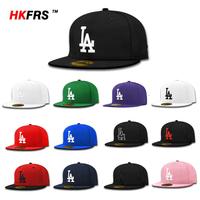 Free Shipping bboy Baseball LA Los Angeles Dodgers Closed Fitted Cap Chapeu Sombrero Bone Sport Outdoor Hip Hop Hat Men Women