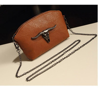 Brand NEW Women's Chains Mini Ox Party Evening Bags,Girl's Pop Gun Color Fighting Bulls Head shoulder bags,Chic Day Clutch,SJ329