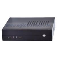 Barebone Mini PC Core i3 Desktop 8USB port , Alloy Case PC Desktop Mini ITX Silver/ Black for All Windows and Linux Ubuntu