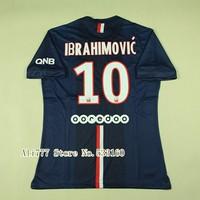 14 15 Futbol  #10 Zlatan Ibrahimovic Home Men's Sporting Training Shirt Best Thai Quality