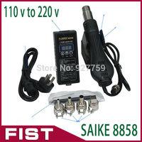 Free shipping 110V / 220V 320W Portable BGA Rework Solder Station Hot Air Blower Heat Gun SAIKE 8858