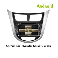 Factory direct 2 Din Android 4.2 Car DVD Gps Special for Hyundai Solaris Verna 1 Year Guaranee