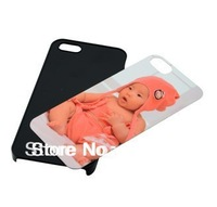 DIY sublimation case  for iphone 5 5S PC case with aluminium metal sheet with glue 20PCS  free shipping