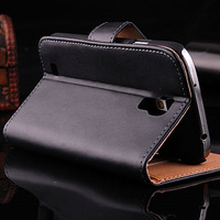 Korean Style Deluxe Genuine Leather Case For Samsung GALAXY S4 S IV i9500 Wallet Flip Cover Stand Pouch With Card Holders