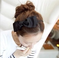 Min order $ 10 Hot 2014 new fashion jewelry handmade fabric ribbon bow hair bands broadside thin card