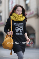 2013 New Casual Women Ladies Loose Knit T-shirt Fleece Top Sweater Plus Size M,L,2XL,3XL,4XL Freeshiping