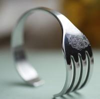 2013 Novelty Item Christmas Gift Fashion Stainless Steel Fork Bracelet Bangle New Arrival For Men Women Free Shipping