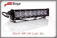 10inch 80W 7085lm Cree led light bars spot flood combo beam Soye brand