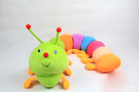 50cm baby toys Colorful caterpillars millennium bug doll plush toys large caterpillar hold pillow doll  free shipping