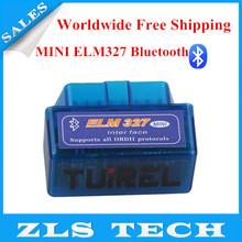 2014 Hot Sales MINI ELM327 Bluetooth V1.5 ELM 327 Interface OBD2/OBD II Auto Code Scanner Free Shipping(China (Mainland))