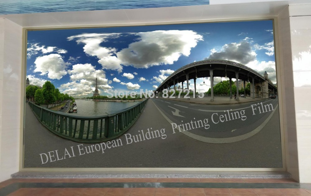 Потолочная плитка DELAI 150 : 1,5 /3,2 EU-150 Printed PVC Stretch Ceiling Film