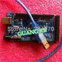 FREE SHIP Promotion Sale !! Mega2560 ATmega2560-16AU Board +USB Cable Compatible with Arduino mega 2560(5 board+ 5 USB Cable)
