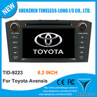 "7"" Car Audio Video Head Unit For Toyota Avensis 2003-2007 With DVD GPS Navigation Radio Bluetooth, Silver Or Black Color Panel"