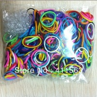 Free shipping 10 bags/lot Hot sell Loom Rubber Band bracelet Bandz (600bands+ 24 S-Clips/bag)