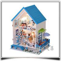 Romantic Aegean House Doll Dollhouse Handmade/Box Dollhouse
