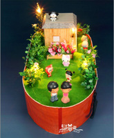 Noah's Ark  Diy Craft Doll Home Wooden Cabin Model New Exotic Toys/Miniatures for Decoration