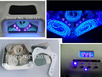Free Shipping DHL/TNT/UPS/Fedex/EMS 60W CCFL LED Nail Lamp with Sensor, Timer, Fan, Voltage Adapter Both for all LED and UV Gel