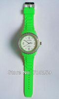 10pcs full rhinestone cuff analog watch EG-IST002 women cheap rubber silicone diamond watches fashion crystal stones watches