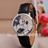 JW323 Hotsale! Children Big Size Black Micky Waterproof Cartoon Quartz Watch Fashion Women WristWatch Watch