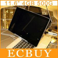 "11.6"" Rotating Screen Touch Laptop Ultrabook Dual core Notebook Intel Celeron 1037U Netbooks 4GB 500GB 11.6"" LED Touchscreen"