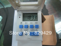 New & Original timer programmable DIN RAIL DIGITAL  TIMER SWITCH 220VAC/250VAC 16A 2pcs/lot Free shipping