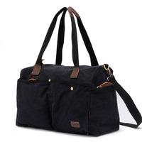Casual Vintage Preppy Style Large Canvas Travel Tote Bag For Men And Women Shoulder Messenger Duffle Bag Handbag Sports Gym Bag