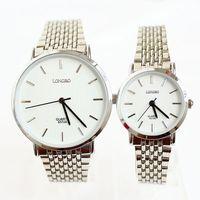 Ultra-thin Watches Waterproof Woman New Hot Sale Popular Fashion Wrist Quartz Steel Lovers Men Ladies Girl Unisex Free shipping