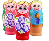 1set/lot New Russian Nesting Matryoshka Dolls, Wood Nesting Doll Handpainted, Cute Gift RD1001